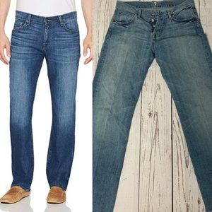 7 For All Mankind Men's Relaxed Fit Straight Jeans